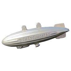 Vintage Metal TootsieToy 1937 Zeppelin Blimp~U.S.N Los Angeles Airship