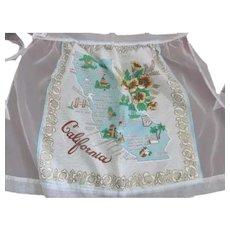 Never Used~Vintage CALIFORNIA State Souvenir Apron~Princess Aprons Orig Tag