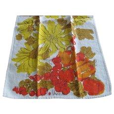 Vintage Retro VERA Neumann Linen Kitchen Towel~Harvest Yellow Fruit Vegetables
