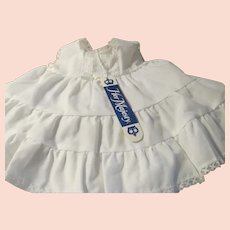 NWT~1950s Baby Girl White Cotton & Lace Slip Petticoat HER MAJESTY~Size 9 Mo