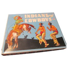 1942 Vintage INDIANS and COWBOYS Paper Dolls Play Set~Saalfield Publishing