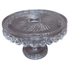 c1894 PILLOW ENCIRCLED Antique EAPG Cake Stand Pedestal~Model Flint Glass Co