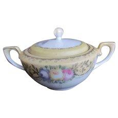 Vintage RS GERMANY Reinhold Schlegelmilch Porcelain Sugar Bowl~Satin Finish