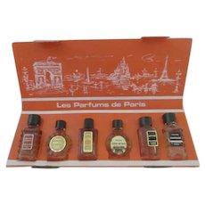 Orig Box 6 Miniature FRENCH PERFUME Bottles~Les Parfums de Paris Charles V Parfumeur
