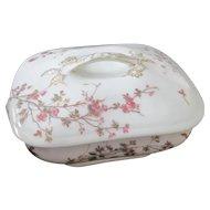Antique 1880s Limoges Wildflower Covered Dish~T&V Tressemann Vogt~Marguerite