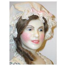 "24"" Wax Portrait Doll ~ Betsy Ross by Lewis Sorensen"