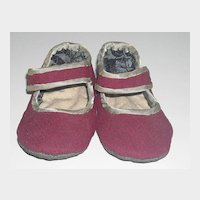 Cloth Doll Shoes ~ Cranberry Color