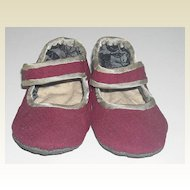 Cloth Doll Shoes ~ Cranberry Color
