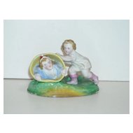 All Bisque Figurine ~ Children Playing