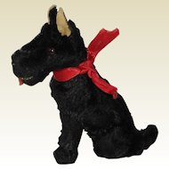 Mohair Scottish Terrier Dog for Doll House or Doll
