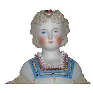 """25"""" Ornately Decorated Early Parian Doll"""