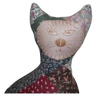 Old Quilted Cat Doorstop