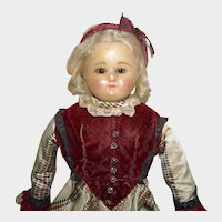 """19"""" Wax Over Composition Doll with Brown Sleep Eyes"""