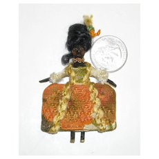Miniature Black Wooden Doll