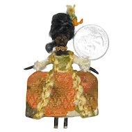 Miniature Black Wooden Doll