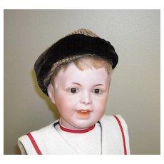 Wool Tweed and Velvet Doll Hat