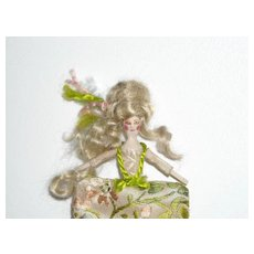 Miniature Wooden Doll - Queen Anne Inspired
