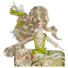Miniature Wooden Doll - Queen Anne Inspired