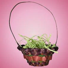 Vintage Doll Sized Easter Basket