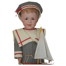 """18"""" SFBJ French Bisque 235 Character Boy"""