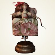Miniature Queen Anne Inspired Wooden Doll