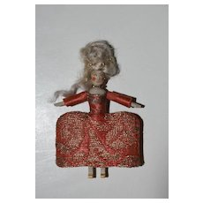 Miniature Queen Anne Inspired Wooden Doll
