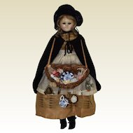 "13.5"" Slit Head Wax Peddler Doll"