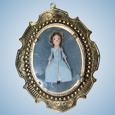 Pendant with Artist Queen Anne Style Wooden Doll