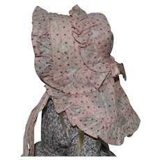 Doll's Cotton Sun Bonnet