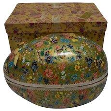 Very Large German Cardboard Easter Egg with original FAO Schwartz Box