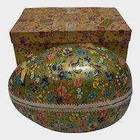 Very Large German Paper Mache Easter Egg with original FAO Schwartz Box