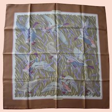 Hermes Scarf - Cols Verts with Original Sleeve