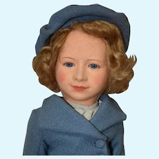 "18"" Chad Valley Princess Elizabeth Cloth Doll"
