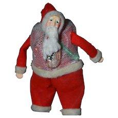 Vintage Santa Claus Mesh Bag Candy Container # 1