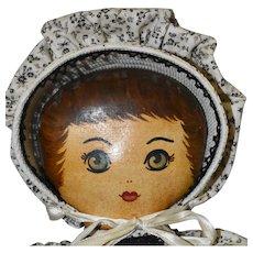 "16"" Third Period Presbyterian Doll, with Lewis Sorensen Connection"