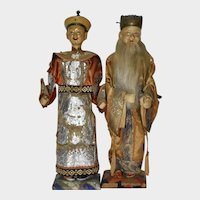 "12"" Pair of Chinese Dolls"