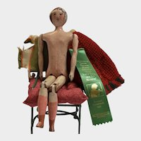 Carved Wooden Doll with Clothing and Provenance - Lenon Hoyte Collection