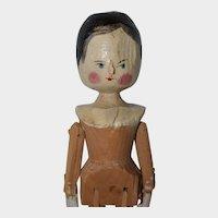 "11.5"" Late Era Grodnertal Peg Jointed Wooden Doll - #1"