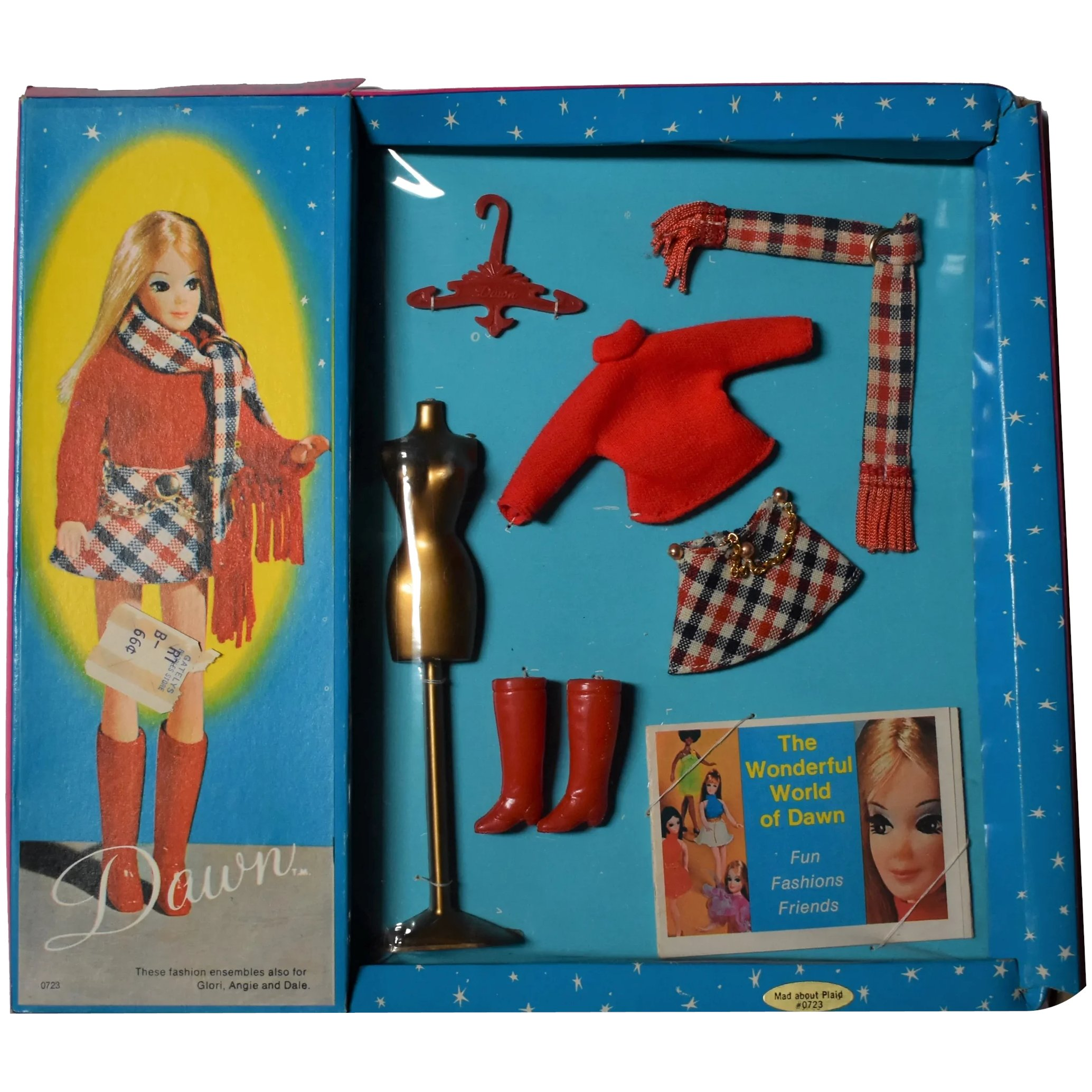 Dawn Doll Outfit Mad About Plaid In Very Good Condion