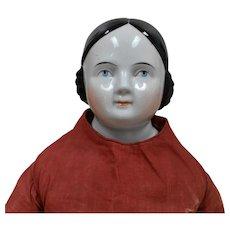 "29"" - Huge Kestner Covered Wagon China Doll with Kintzbach Hands"