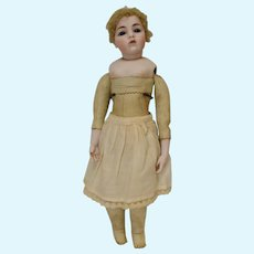 """17""""  Clara Wade Clarmaid Bisque Head Doll with Blue Eyes - dated 1961"""