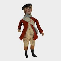 "9""  Interesting Character Man Dressed in 18th Century Clothing"