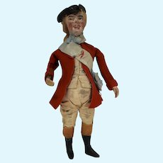 """9""""  Interesting Character Man Dressed in 18th Century Clothing"""