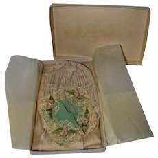 Silk Stockings, Lace Bonnet and Silk Hankie in The Higbee Co Box