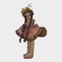 "16"" Straw and Raffia Bahamas Souvenir Doll"