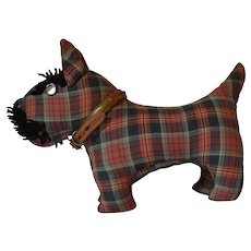 Plaid Stuffed Scottie Scotty Dog