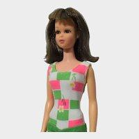 Mattel Brunette Straight Waist Francie Doll