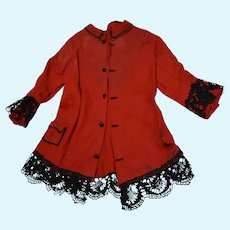 Red Wool Doll Jacket - As Is