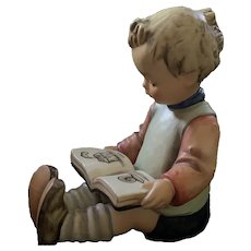 74A & 74B Hummel Large Boy & Girl Reading