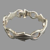 Circular and Pointed Sterling Bracelet Marked JN Jacopo Taxco
